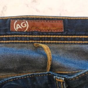 Mens AG lightweight blue straight leg jeans sz 36